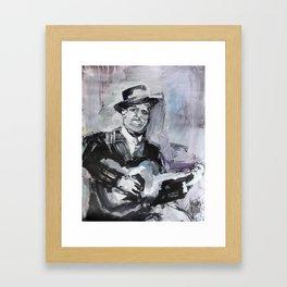 Big Bill Broonzy Old Blues Musician Framed Art Print