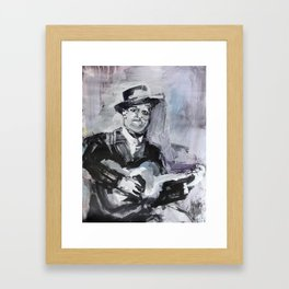 Big Bill Broonzy Old Blues Musician Framed Art Print