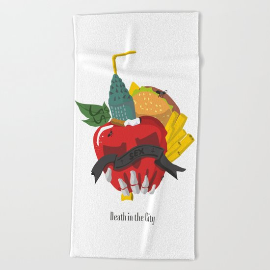 Death in the city Beach Towel