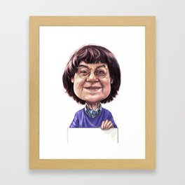 Tribute to Cabu Framed Art Print