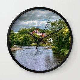 The River Derwent At Cockermouth Wall Clock