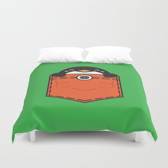 Pocket Penguin Duvet Cover
