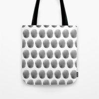 polkadot Tote Bags featuring Watercolour polkadot black by Mouseblossom