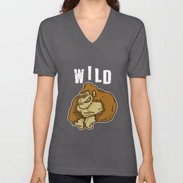 Wild, Animal, Forest Unisex V-Neck