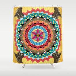 Virgin of Guadalupe Mandala Shower Curtain