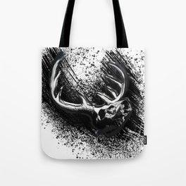 Deer Skull Inksplash Tote Bag