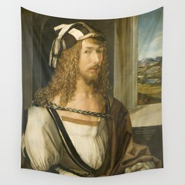 Self Portrait by Albrecht Durer, 1498 Wall Tapestry