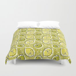 Atomic Lemonade_Green Duvet Cover