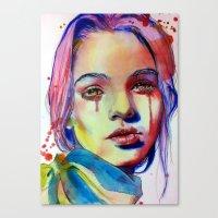 lavender Canvas Prints featuring Lavender by Olga Noes