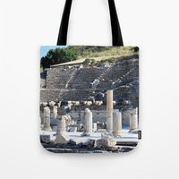 theater Tote Bags featuring Theater  by Allisa Thome
