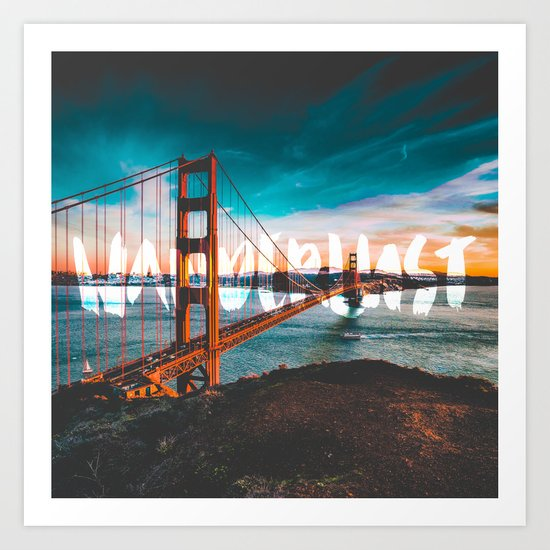 WANDERLUST San Francisco Art Print