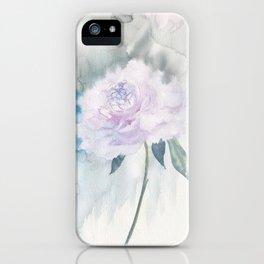 White Peony iPhone Case