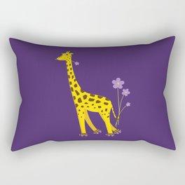 Funny Giraffe Roller Skating Rectangular Pillow