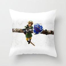 legend of zelda link snow figma Throw Pillow