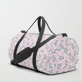 Hibiscus and Plumeria Pink-Gray Duffle Bag