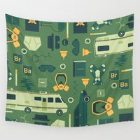 breaking bad Wall Tapestries featuring Breaking Bad by Tracie Andrews