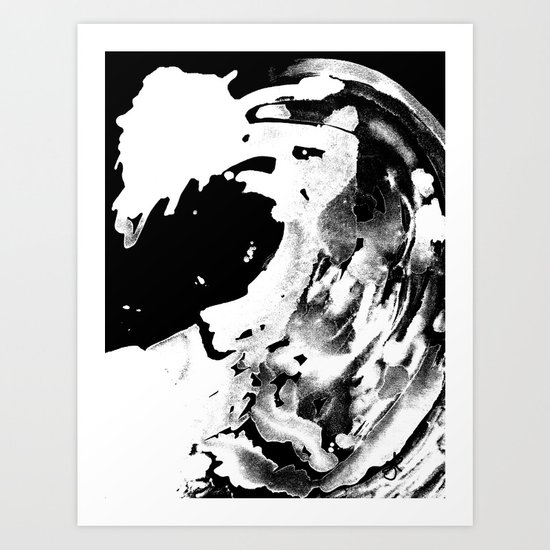 Keep Our Oceans Icy and Black and White Art Print