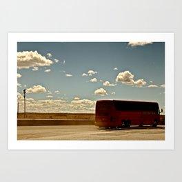 Charter Bus Art Print