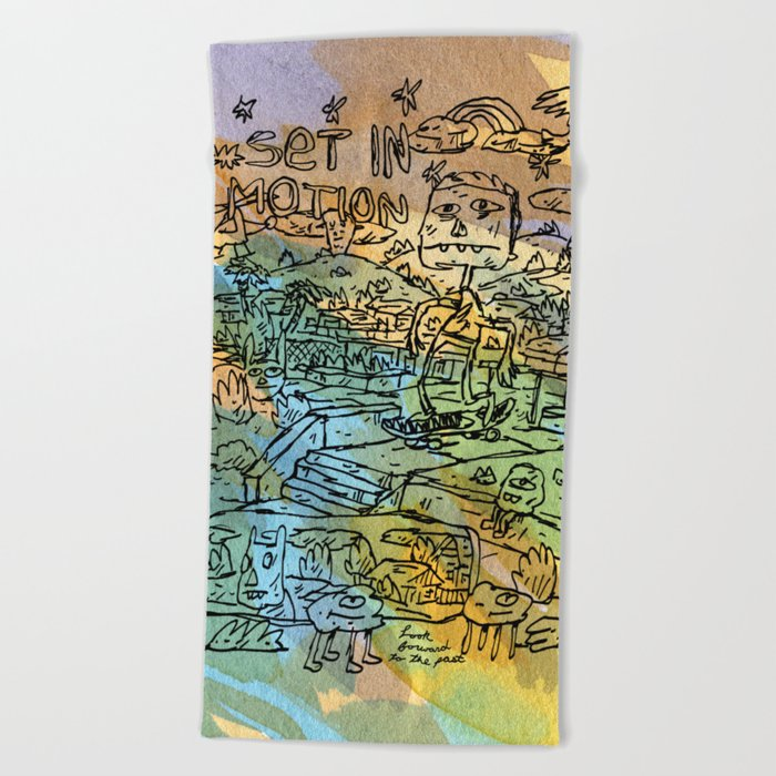 Set In Motion Beach Towel
