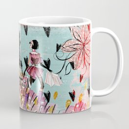 Fashion girl in Paris - Shopping at the EiffelTower Coffee Mug