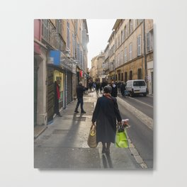 Winter in Aix Metal Print