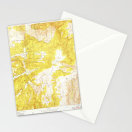 Rodriguez Mtn., CA from 1948 Vintage Map - High Quality Stationery Cards