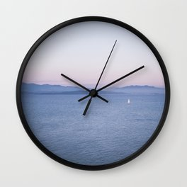 Sunset Gaeta, Italy Wall Clock