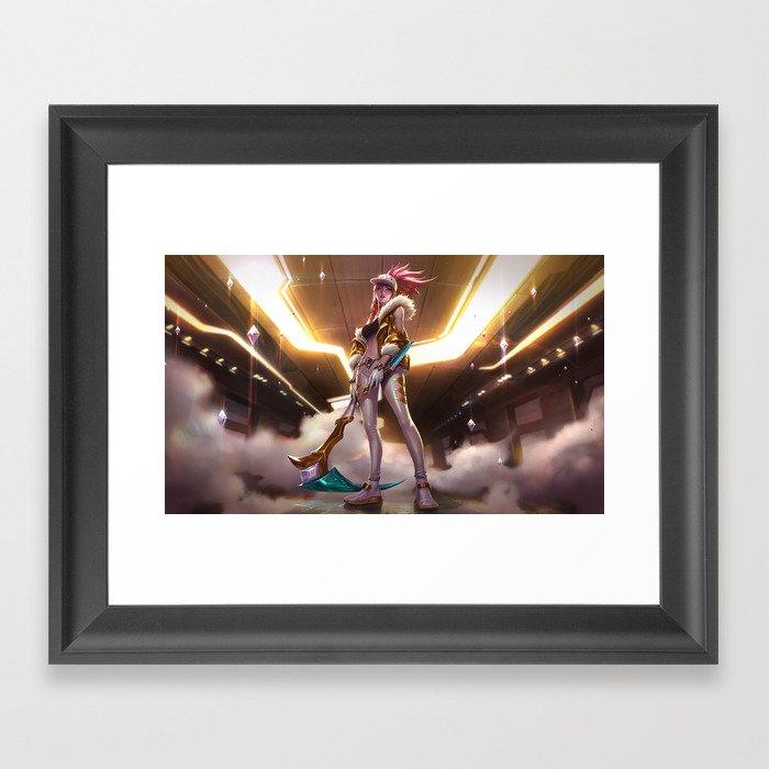 KDA Akali Prestige Edition League of Legends Framed Art Print