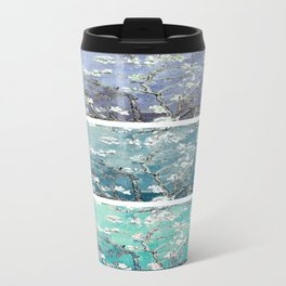 Vincent Van Gogh : Almond Blossoms Panel Art Turquoise Teal Steel Blue Travel Mug