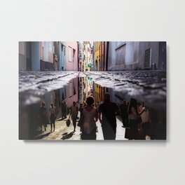 A Reflection of City Life by GEN Z Metal Print