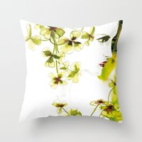clover Throw Pillows featuring Clover by Ekaterina Koroleva