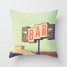 Bar. Los Angeles photograph Throw Pillow