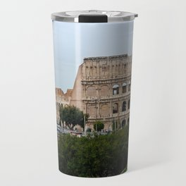View to the Colosseum from the street, Rome, Italy Travel Mug