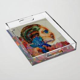 Homage to Schiaparelli couture Acrylic Tray