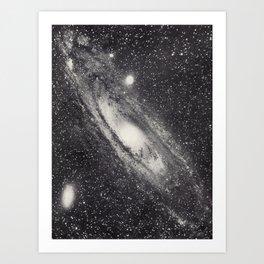 Vintage Astronomy-Nebula M31 Andromeda Art Print