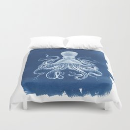 Octopus Cyanotype Duvet Cover