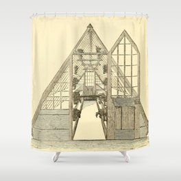 Antiquarian Greenhouse Shower Curtain