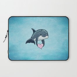 Love Ya! ~ Baby Dolphin by Amber Marine ~ Blue ~ (Copyright 2014) Laptop Sleeve