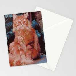 Maine Coon Cat III Stationery Cards