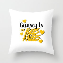 Gansey Is The Bees Knees Throw Pillow