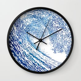 Pacific Waves IV Wall Clock