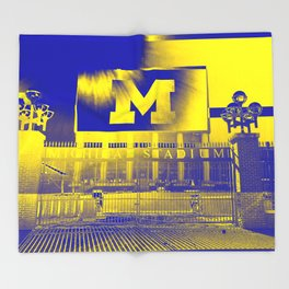 Michigan Stadium Throw Blanket