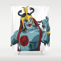 thundercats Shower Curtains featuring Mumm-Ra x MrWetpaint by Mr Wetpaint