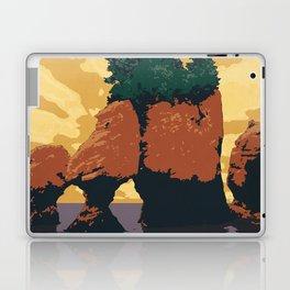 Hopewell Rocks Poster Laptop & iPad Skin