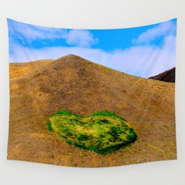 Volcanic heart Wall Tapestry