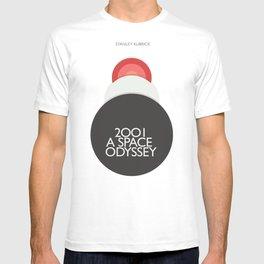 2001 a Space Odyssey, Stanley Kubrick alternative movie poster, dark blue  classic film, cinema love T-shirt
