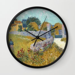 Vincent van Gogh Farmhouse in Provence 1888 Painting Wall Clock