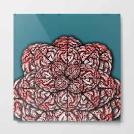 Brain Flower Metal Print