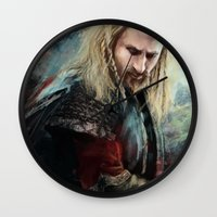 fili Wall Clocks featuring Fili Heir of Durin by Alba Palacio