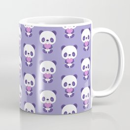 Cute purple baby pandas Coffee Mug